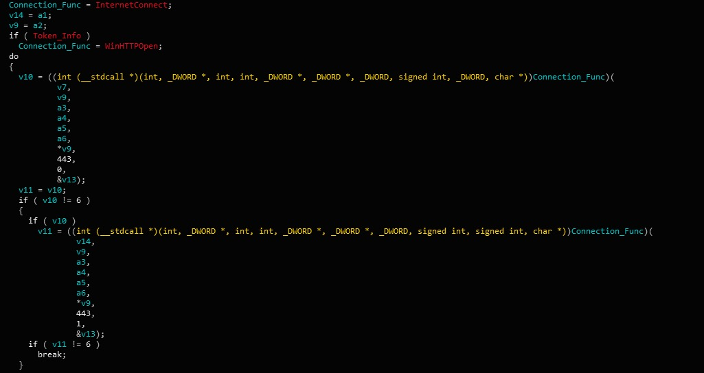 image of gootkit connection function