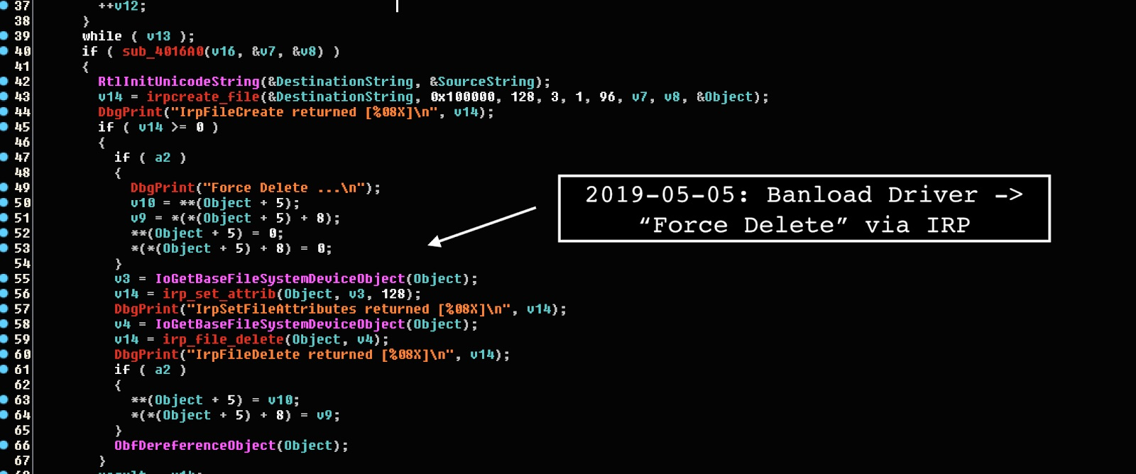 image of Banload force delete