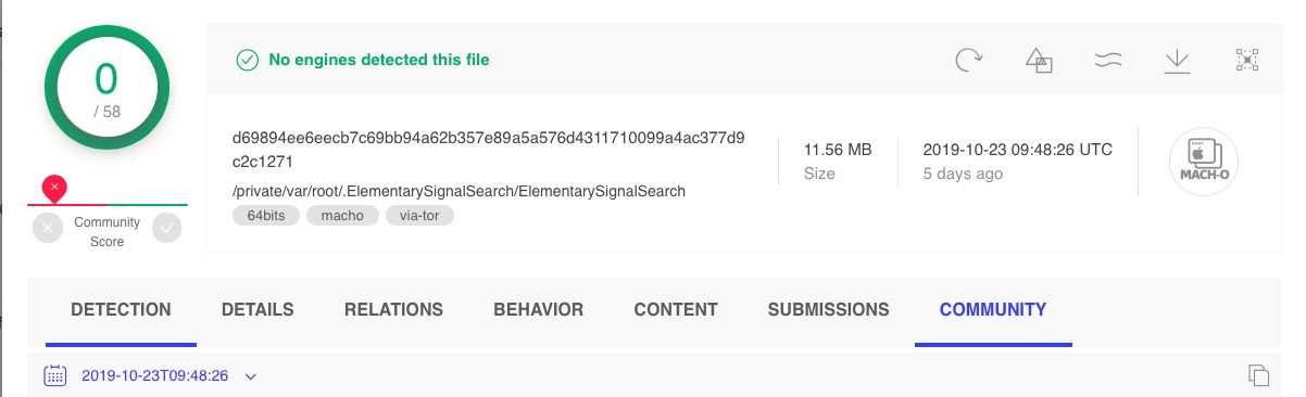 image of adload virustotal detection