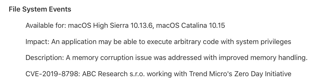image of 10.15.1 security update