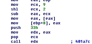 image of Call to decode function after rebuilding table