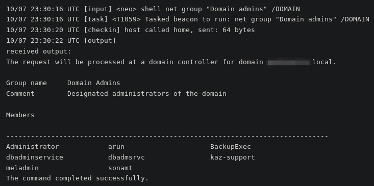 Domain admin checked