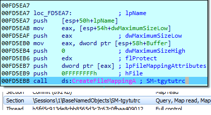 Image of ransomware create Base64 file mapping