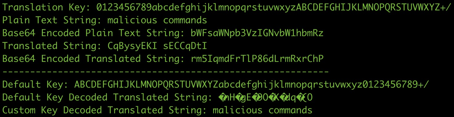 image of python translation output