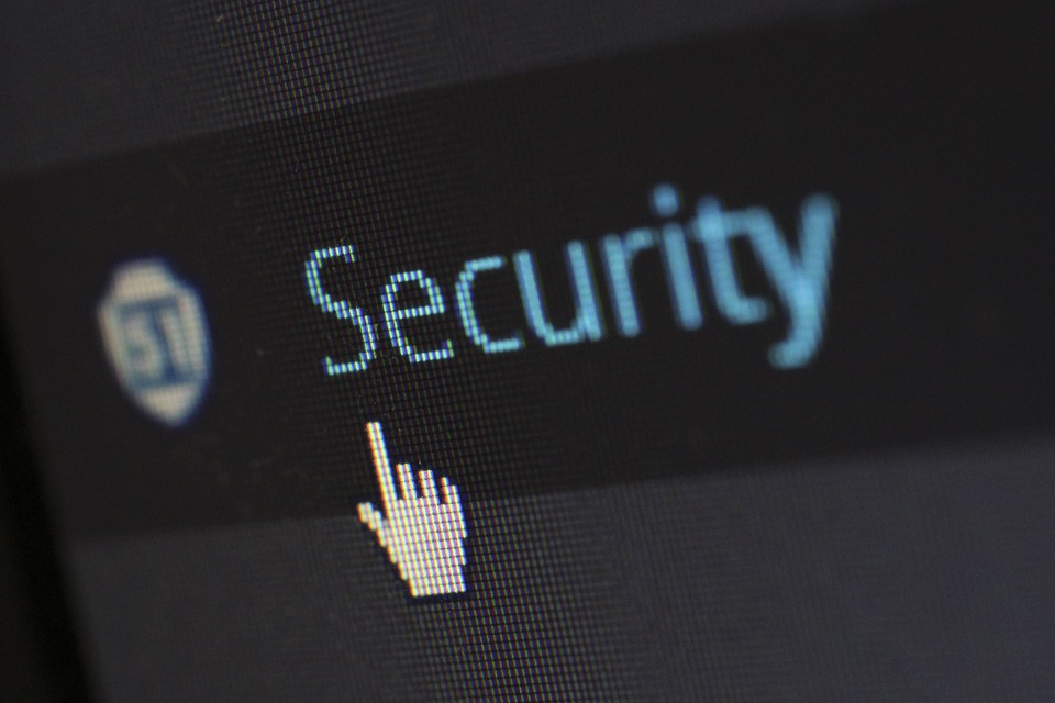 """A cursor over the word """"Security"""" as a demonstration of Bulletproof Hosting."""