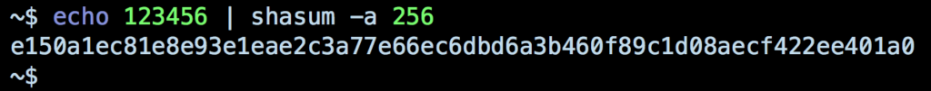 Screenshot image of sha hash 123456