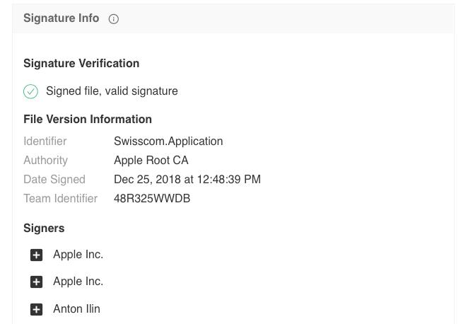 A screenshot of newly OSX.Dok