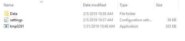 image of creating settings ini file