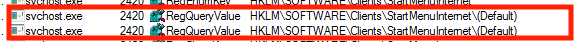 Image of default browser setting