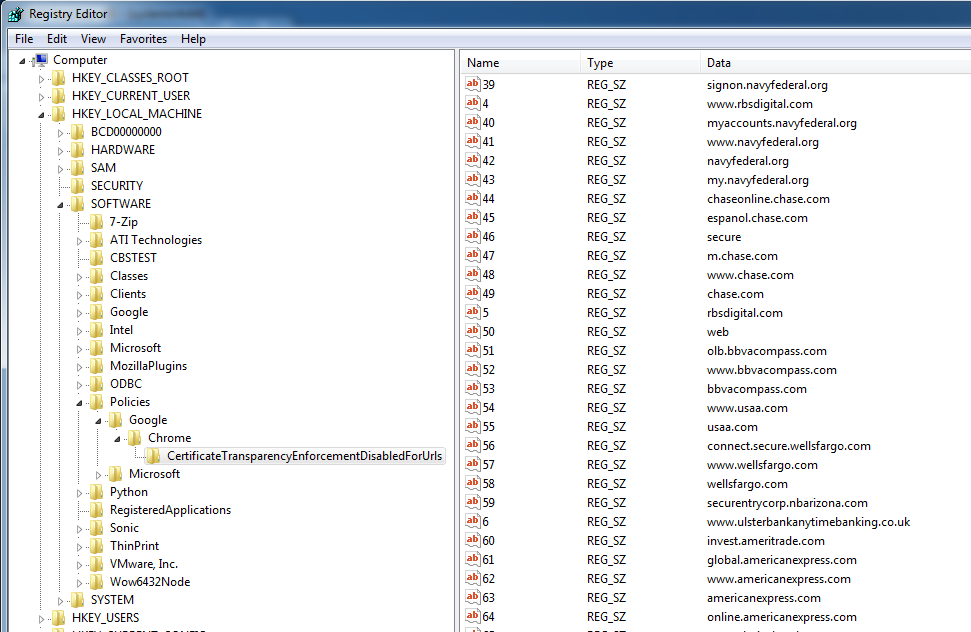 Image of disable Certificate transparency in browsers