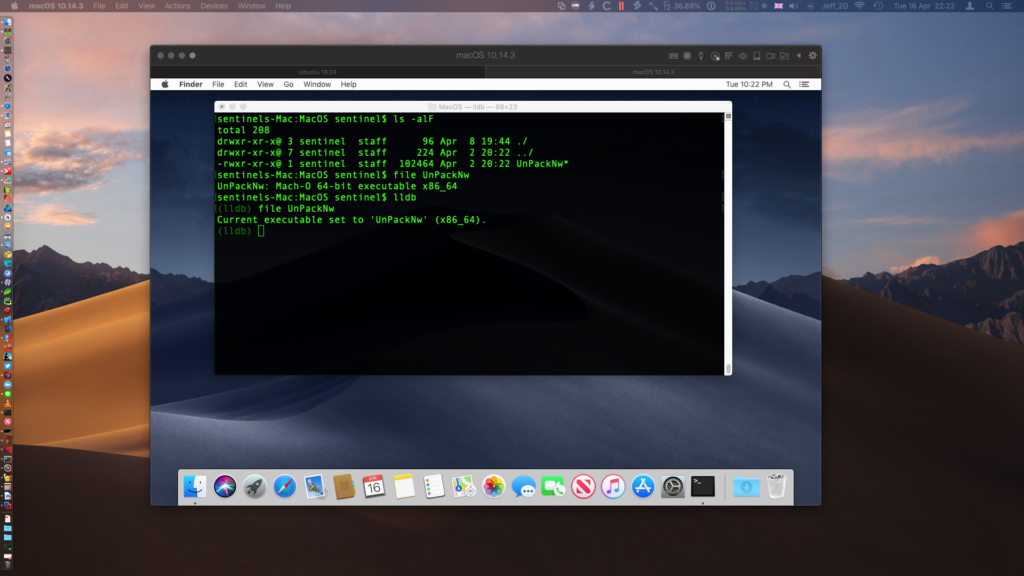 image of macOS isolated virtual machine