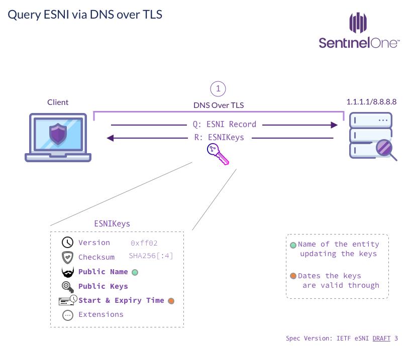 image of Query ESNI Via DNS Over TLS