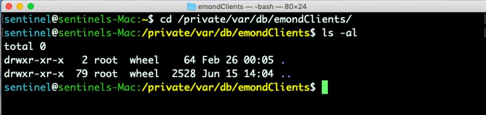 image of emond clients folder