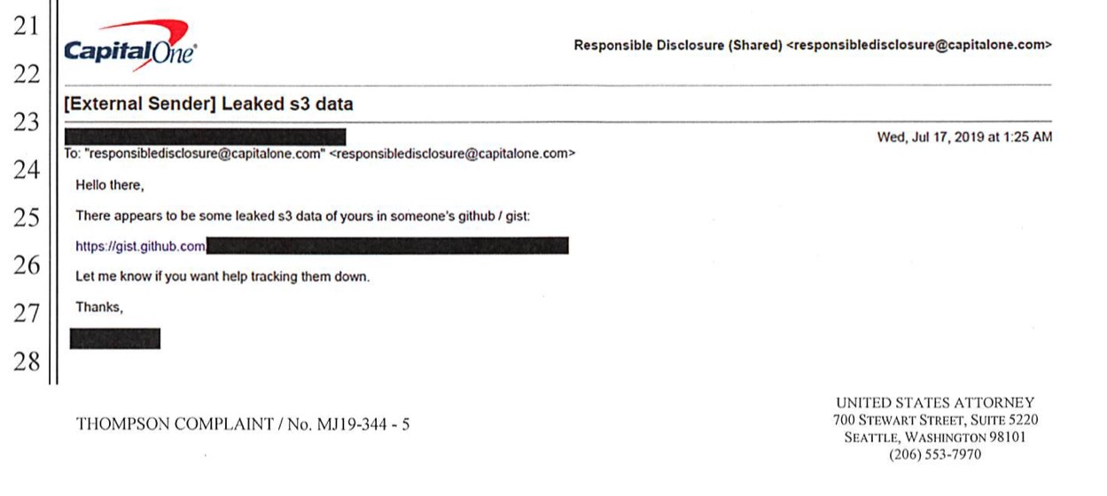 image of informant email