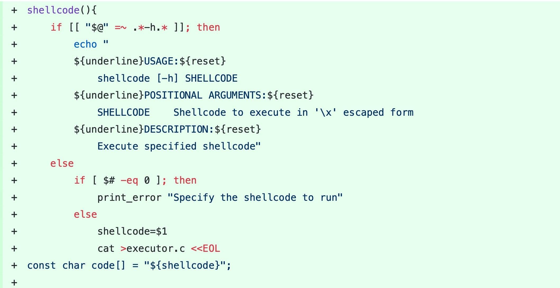 image of shellcode function
