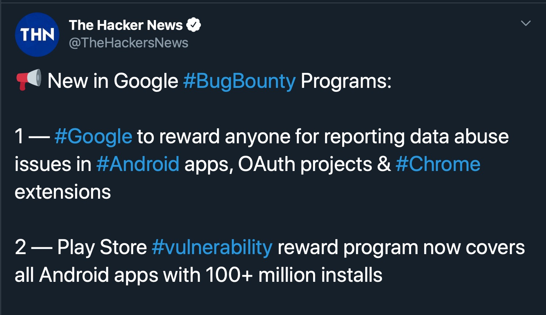 image of news of google bug bounty
