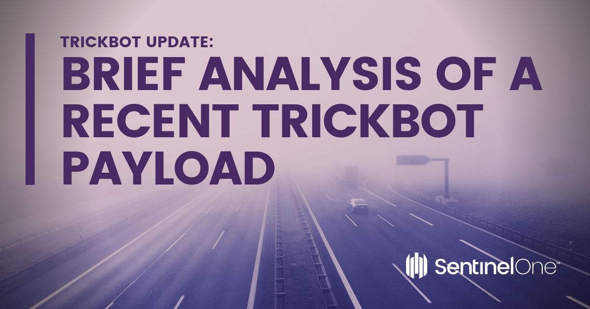 feature image of trickbot brief analysis