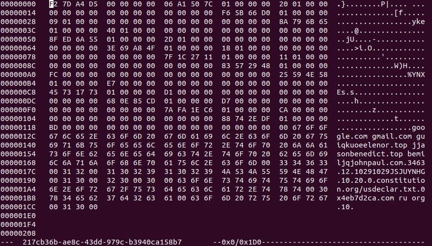 image config hexdump