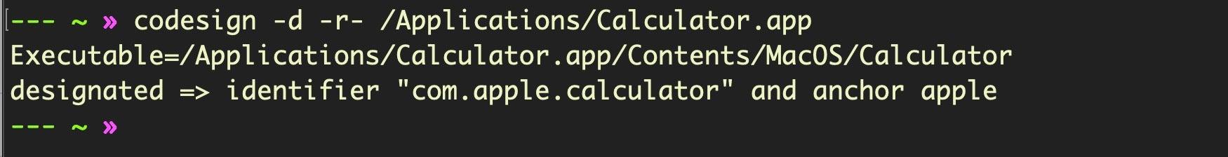 image if codesign utility