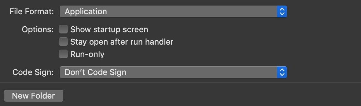 image of export script as app