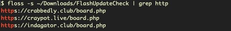 image of Lazarus flash update check malware