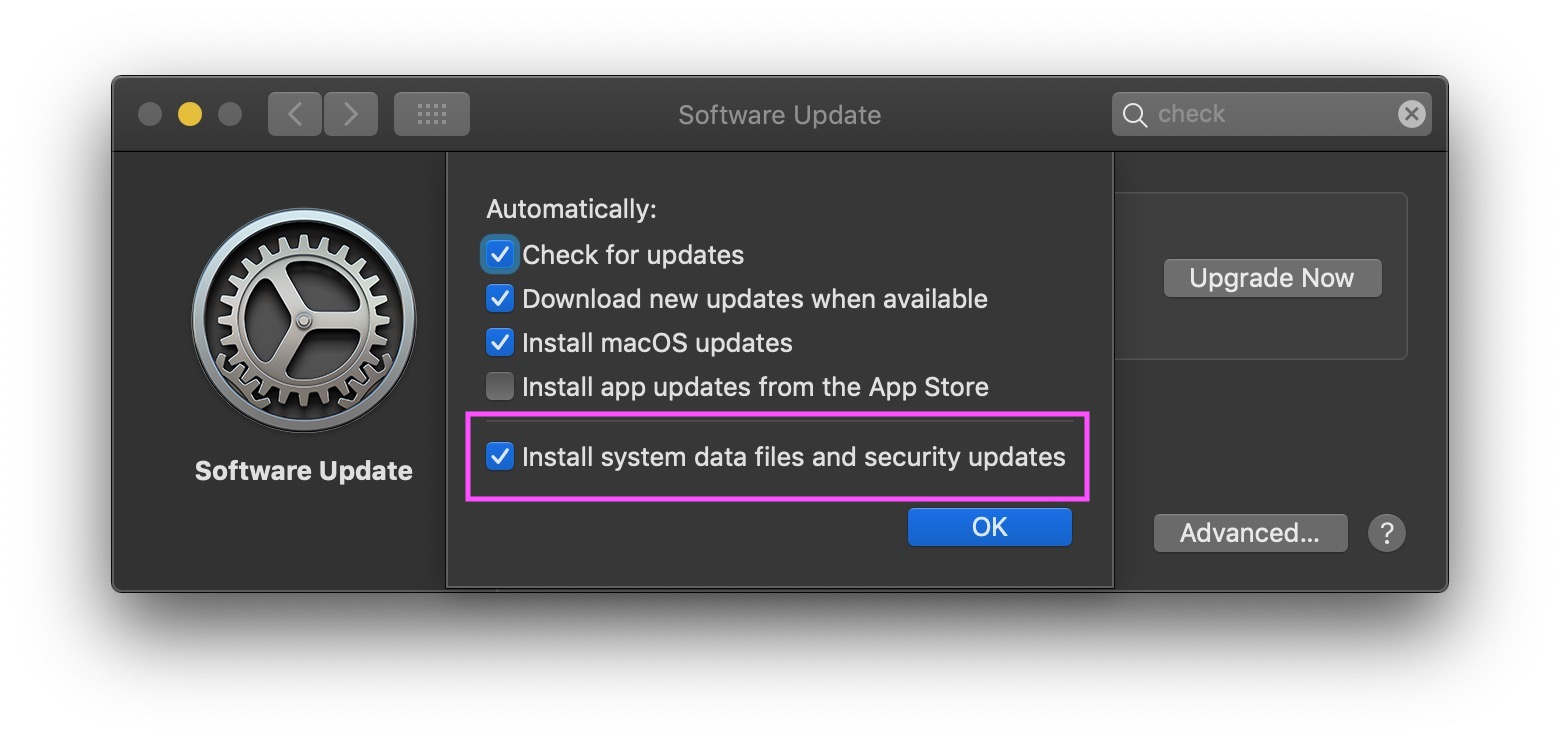 image of system preferences advanced